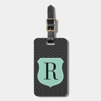 Chic monogram travel luggage tag for men and women