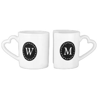 Chic Monogramed Best Half Mug Set