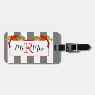 CHIC MR 8 MRS HOLIDAY/CHRISTMAS  LUGGAGE TAG