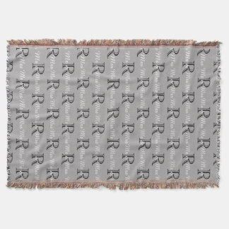 "CHIC ""Mr and Mrs"" THROW_BLACK/WHITE/GREY Throw Blanket"