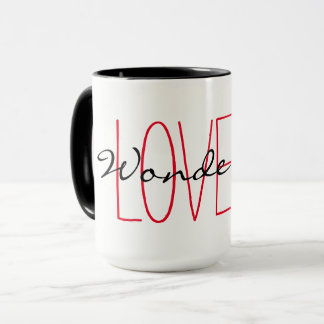 "CHIC MUG_""LOVE IS WONDERFUL"" MUG"