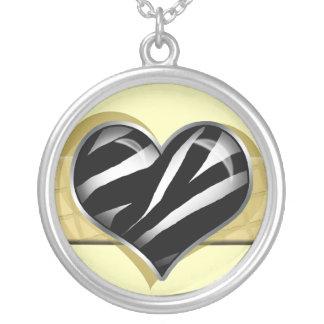 Chic My Heart Zebra Print Yellow Necklace