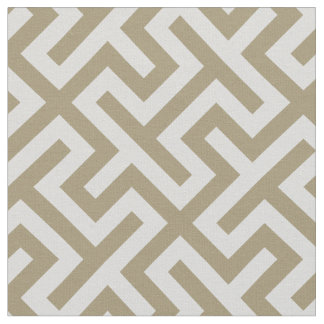 Chic neutral beige grey abstract geometric pattern fabric