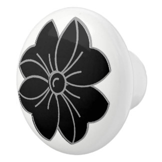 CHIC NOBS_PRETTY BLACK BOW CERAMIC KNOB