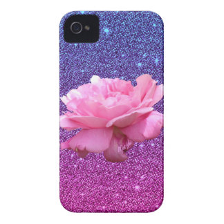 Chic Ombre Glitter Floral iPhone 4 Phone Case