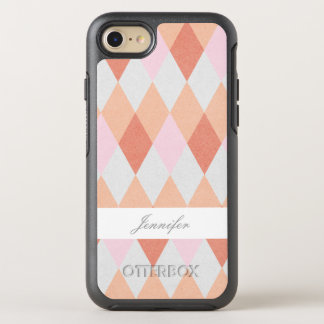 Chic Orange Argyle With Name Case