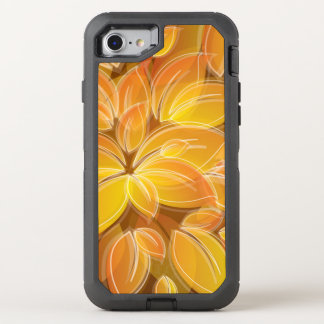Chic orange Petals Pattern OtterBox Defender iPhone 7 Case