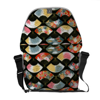 Chic Oriental FLoral Messenger Bag Outside Print
