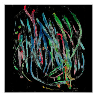 CHIC ORIGINAL ABSTRACT PAINTING POSTER