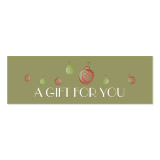 Chic Ornament Holiday Gift Tag Business Card Templates