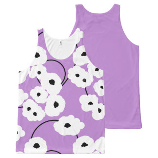 CHIC OVERALL DESIGN TOP_MOD POPPIES All-Over PRINT SINGLET