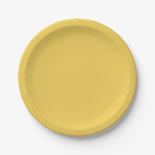 "CHIC PANTONE 2017_""PRIMROSE YELLOW"" PAPER PLATE 7 INCH PAPER PLATE"