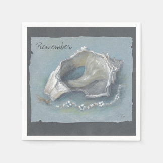 CHIC PAPER NAPKIN_CONCH SHELL DRAWING PAPER NAPKIN
