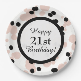 CHIC PAPER PLATE_ BIRTHDAY, GIRLY,MODERN DOTS PAPER PLATE