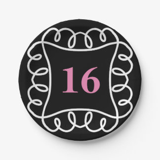 CHIC PAPER PLATE _FUN 16TH BIRTHDAY  DIY