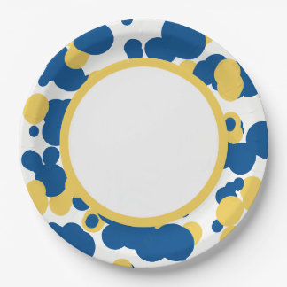 CHIC PAPER PLATE_FUN SPLATTERED DOTS PAPER PLATE