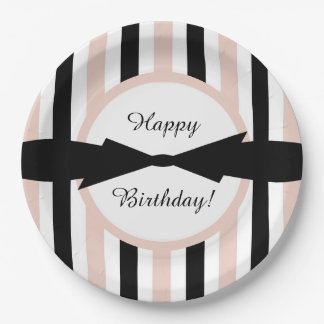 CHIC PAPER PLATE_ GIRLY,MODERN  STRIPES PAPER PLATE