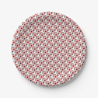 CHIC PAPER PLATE_PRETY /BLUSH PINK FLORAL PAPER PLATE