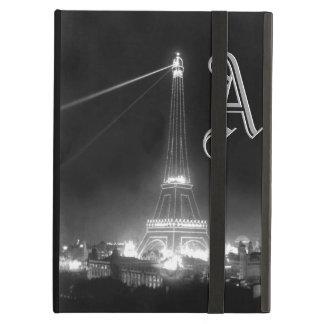 Chic Paris Monograms Initials Vintage Eiffel Tower iPad Air Cover