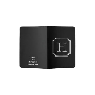 CHIC PASSPORT HOLDER_BLACK/WHITE PASSPORT HOLDER