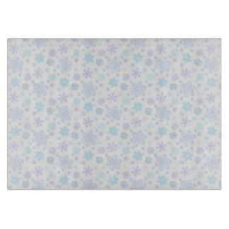 Chic Pastel Snowflakes Pattern Cutting Board