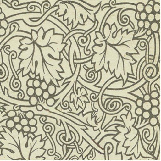 Chic Pattern Grapevine Art Nouveau Design Photo Cut Out