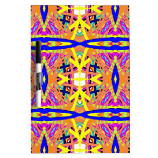 Chic Peach Blue Yellow Tribal Pattern Dry Erase Board
