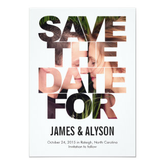 Chic Peek Save The Date Card