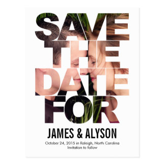 Chic Peek Save The Date Card Post Cards