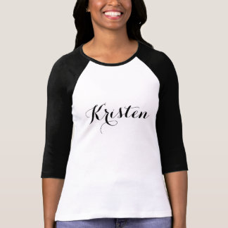 Chic Personalized Name T-Shirt