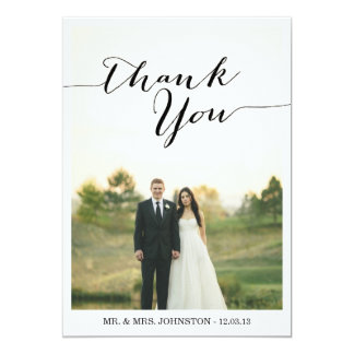 Chic Photo Wedding Thank You Cards Announcement