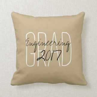 """CHIC PILLOW_""""2017 GRAD""""  DIY COLOR AND TEXT CUSHION"""