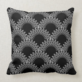 CHIC  PILLOW_PRETTY MODERN SCOLLOPED FLAME PATTERN CUSHION