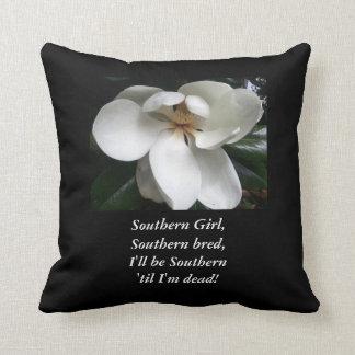 "CHIC PILLOW_""Southern Girl.."" MAGNOLIA Throw Pillows"