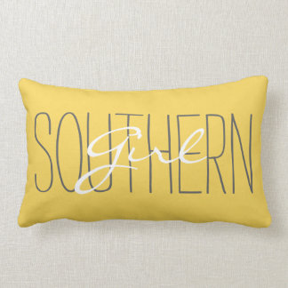 "CHIC PILLOW_""SOUTHERN Girl"" MERIGOLD/GREY/WHITE Lumbar Pillow"