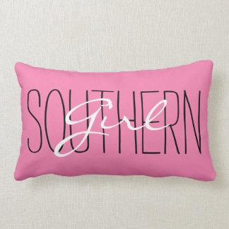 "CHIC PILLOW_""SOUTHERN Girl"" PINK/BLACK/WHITE Lumbar Pillow"