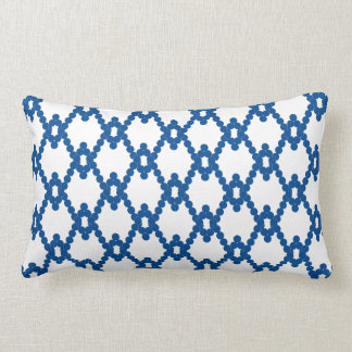 CHIC PILLOW_ ZIGZAG  DOTS 56 BLUE LUMBAR PILLOW