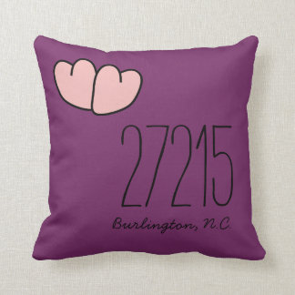 CHIC PILLOW_ZIPCODE OF YOUR FAVORITE PLACE THROW CUSHIONS