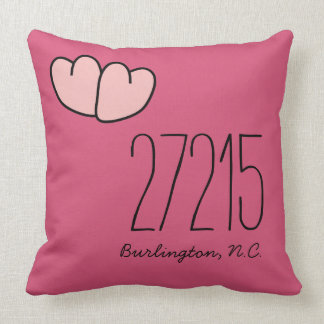 CHIC PILLOW_ZIPCODE OF YOUR FAVORITE PLACE THROW PILLOW