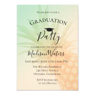 Chic Pineapple Graduation Party Invitation