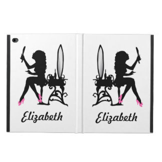 Chic Pink and Black Woman of Fashion Silhouette Powis iPad Air 2 Case