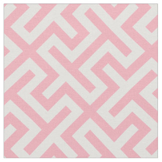Chic pink and white abstract geometric pattern fabric