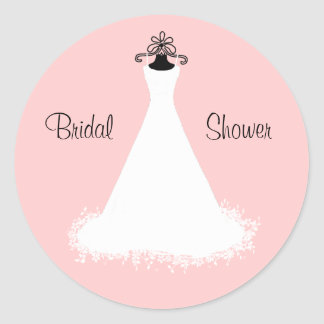 Chic Pink and White Bridal Shower Envelope Seal