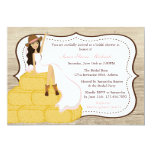 Chic Pink Cowgirl Country Bride Bridal Shower Invites