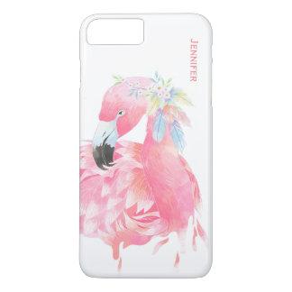 Chic Pink Flamingo Custom iPhone 7 Plus Case