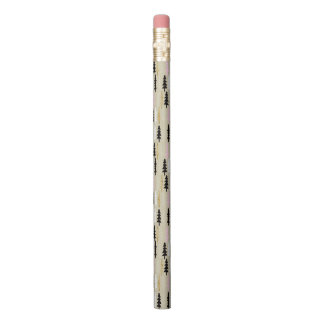 Chic Pink & Gold Tree Pattern Pencils