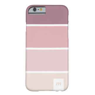 Chic Pink violet lines pale palette minimal Barely There iPhone 6 Case