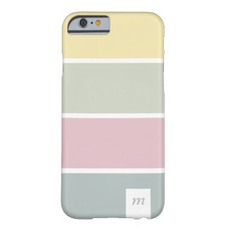 Chic Pink yellow lines pale palette minimal marrie Barely There iPhone 6 Case