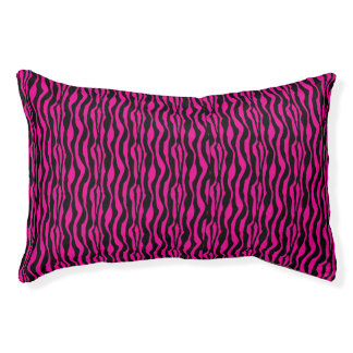 Chic Pink Zebra Print Pattern Pet Bed