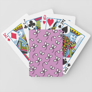 CHIC PLAYING CARDS_ 46 VIOLET WHITE FLORAL DECK OF CARDS